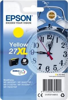 Epson 27XL blækpatron, gul, 1100 s.