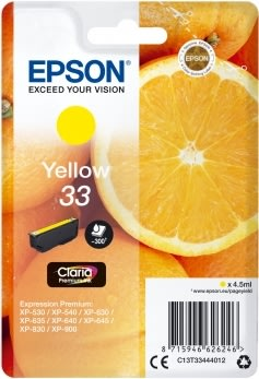 Epson 33 Blækpatron, gul