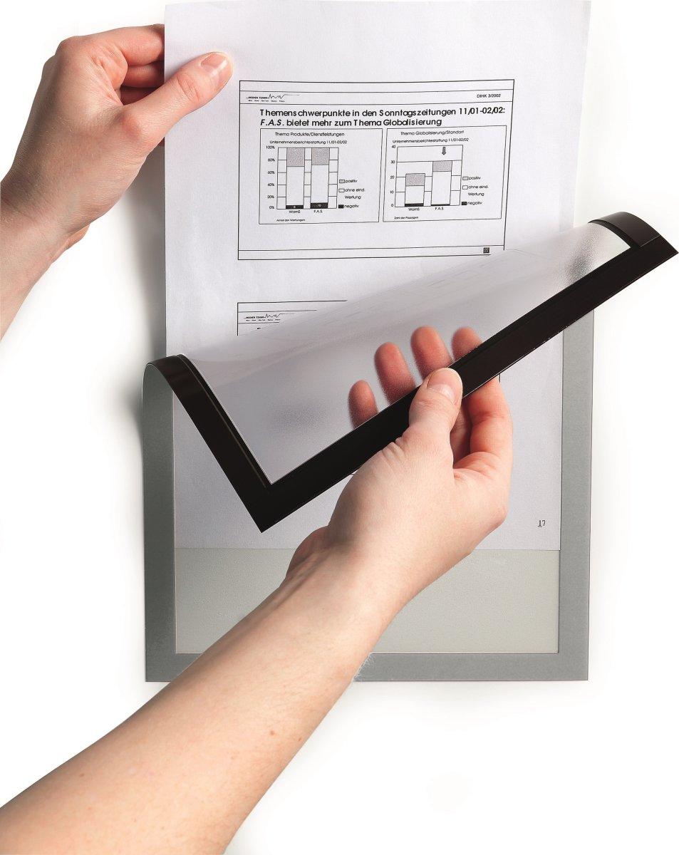 Durable DURAFRAME Magnetic A5, sort, 5 stk.