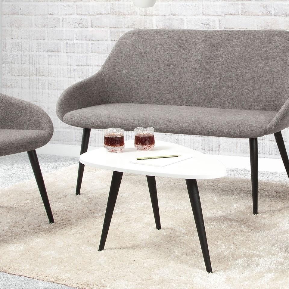 Bello Loungesofa grå med sorte ben