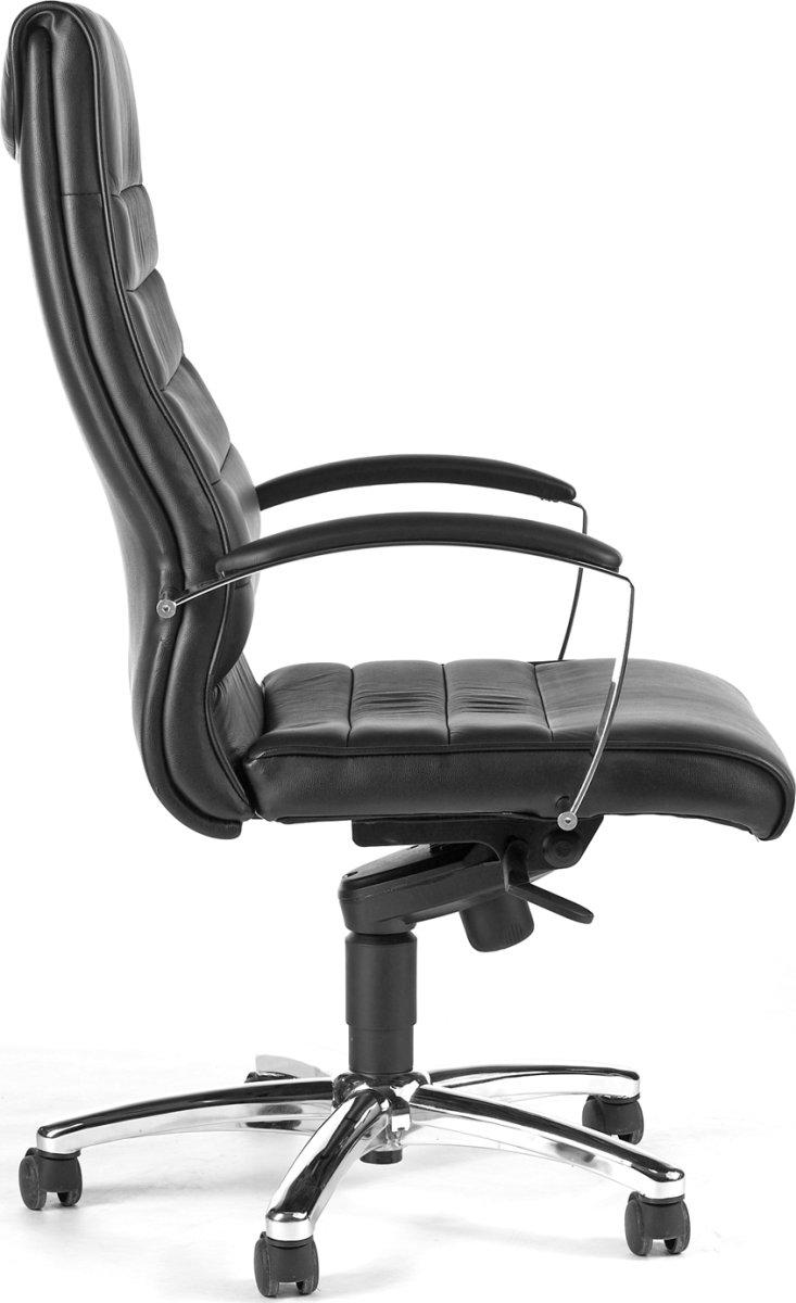 Melfi kontorstol sort læder inkl. armlæn