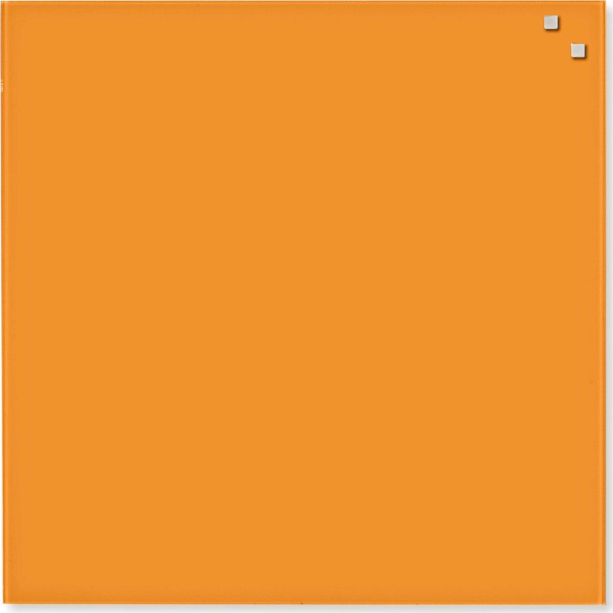 Glassboard magnetisk glastavle 45 x 45 cm, orange