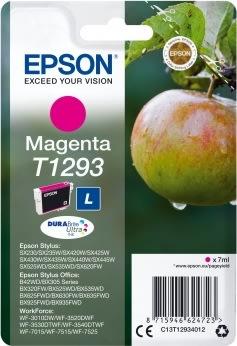 Epson T1293/C13T12934022 blækpatron rød, 474s.