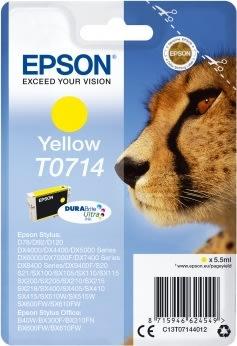 Epson nr.T0714/C13T07144022 blækpatron, gul, 280s