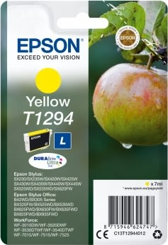 Epson nr.T1294/C13T12944022 blækpatron, gul, 474s