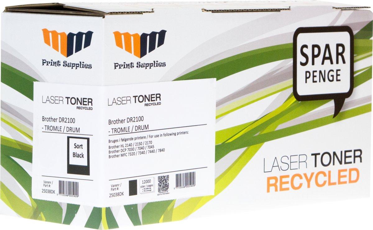 MM DR2100 lasertromle, sort, 12000s