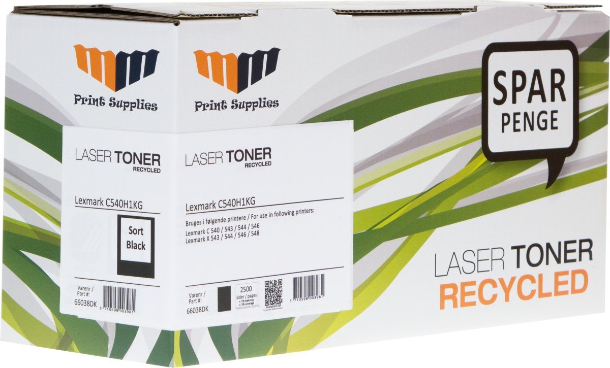 MM Lexmark C540H1KG Lasertoner, Sort