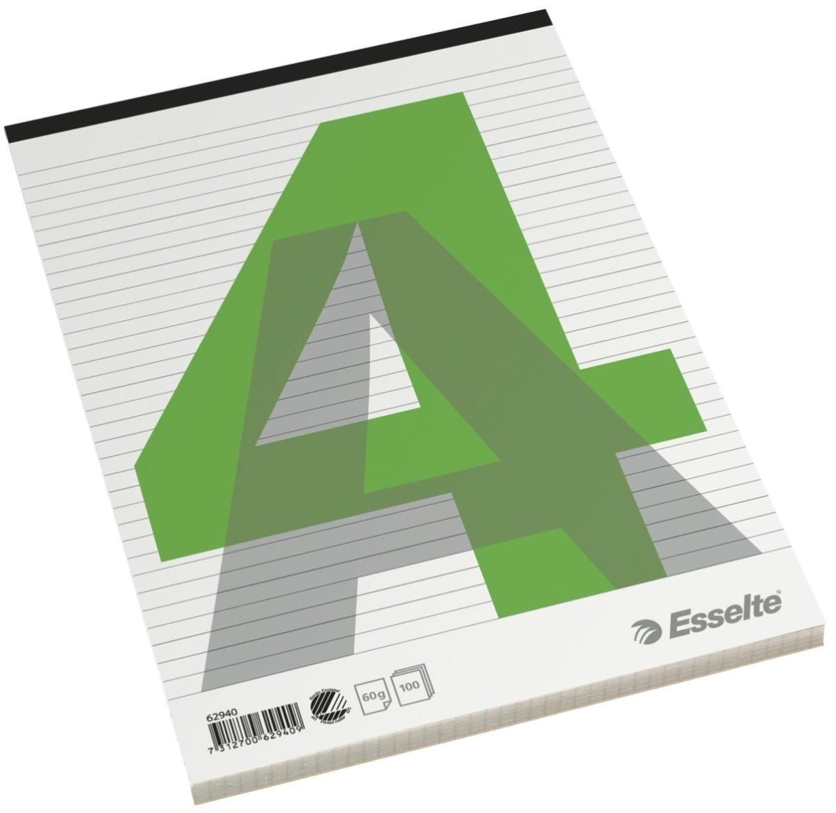 Esselte Standardblok A4, linjeret, med stub