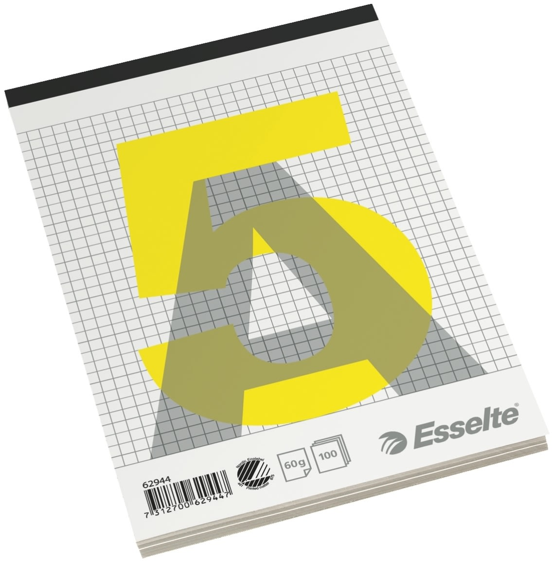 Esselte Standardblok A5, kvadreret, med stub