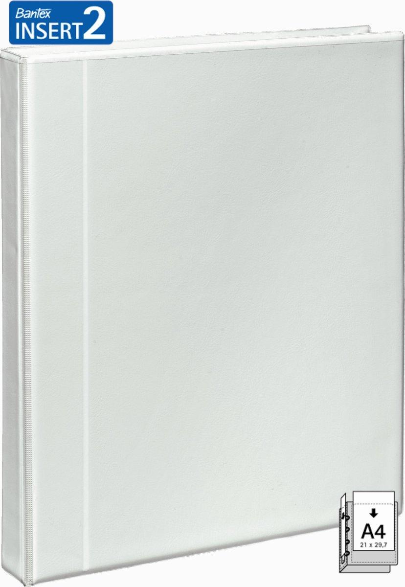 Bantex indstiksringbind 4 D-ringe, 35mm/20mm, hvid
