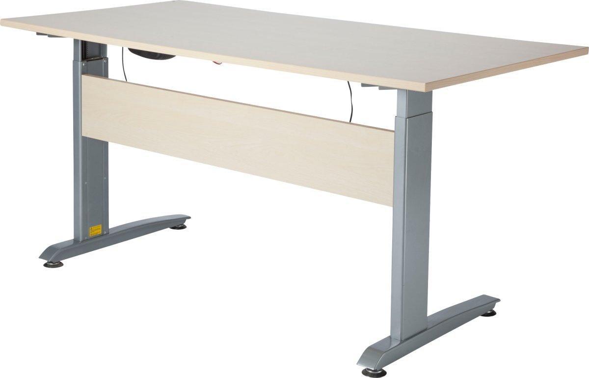 VIKING hæve/sænkebord 160X80, ahorn melamin / Alu