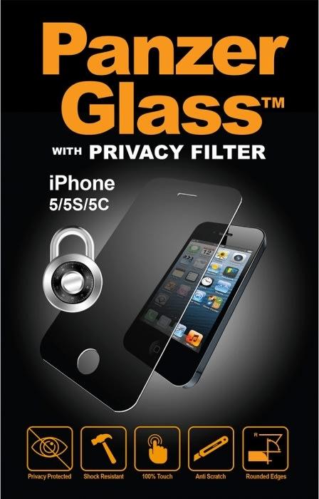 PanzerGlass privacyfilter til iPhone 5/5S/5C