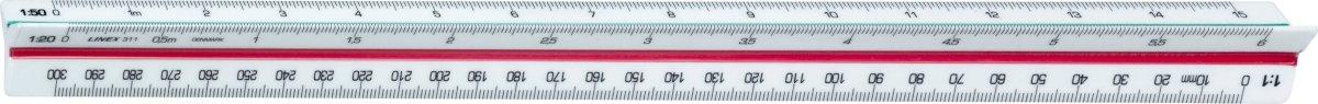 Linex 311 trekantet målestok, 300mm