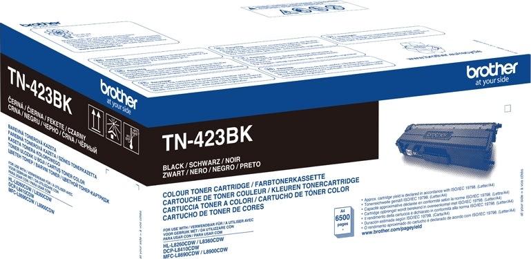 Brother TN-423BK XL Lasertoner, sort, 6500s