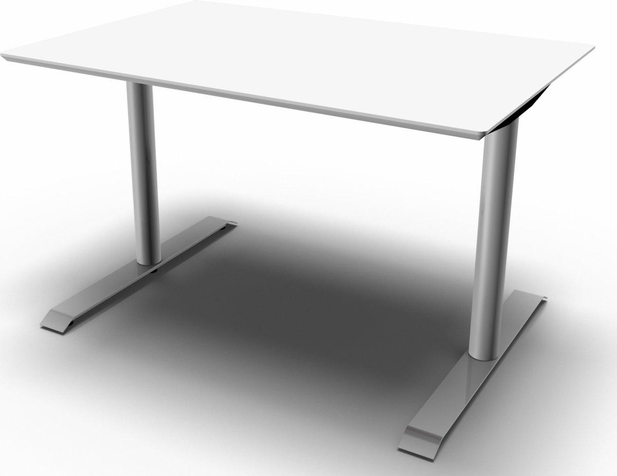 JAZZ hæve/sænkebord 120x80 cm Hvid/Alu