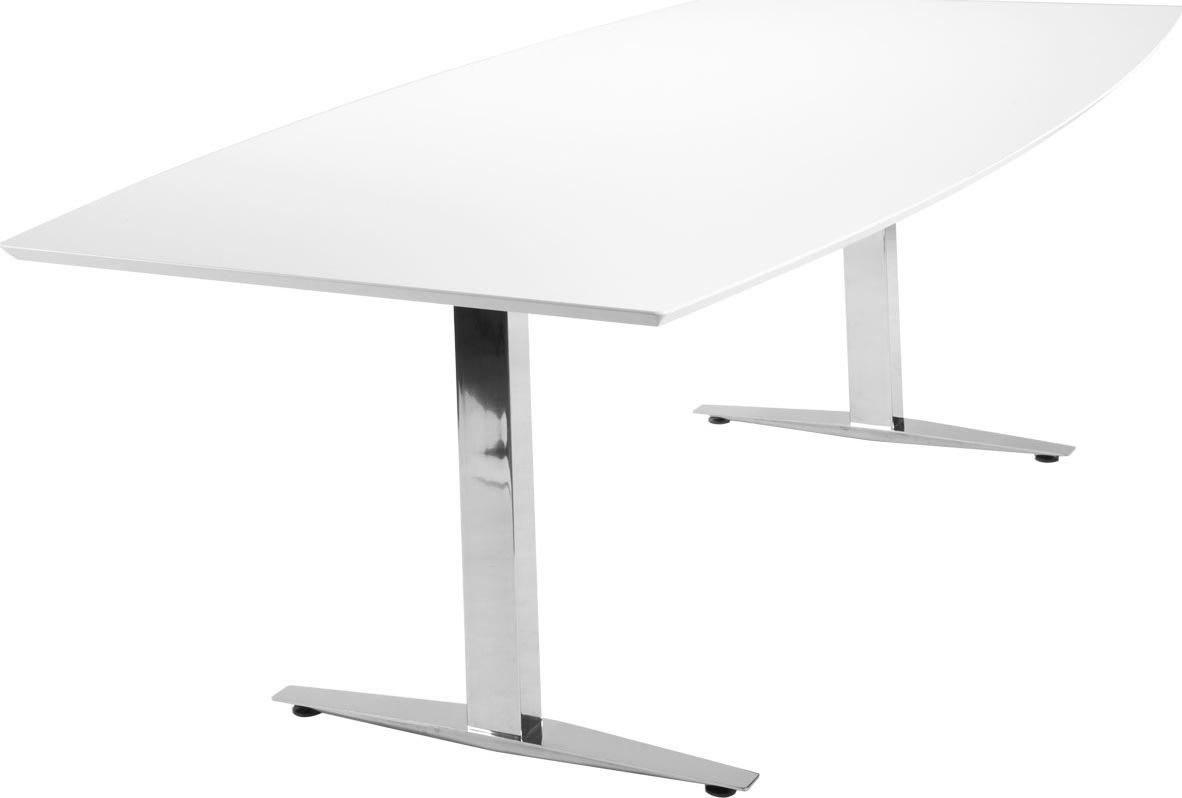 Jive konferencebord 220x110/90 cm. hvid laminat
