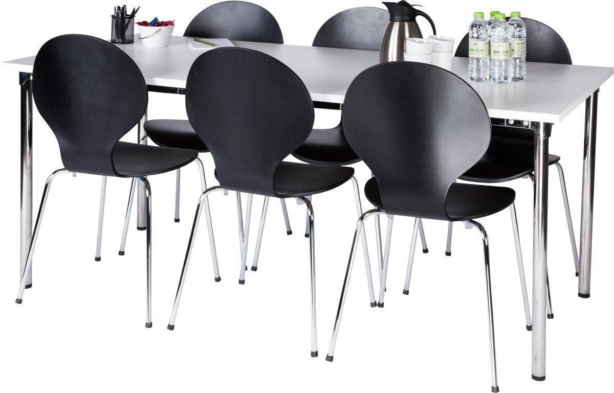 Comfort Basic kantinesæt 6 stole og Eminentbord