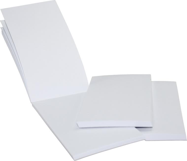 Budget Restaurantblok, 6,5 x 13 cm, hvid