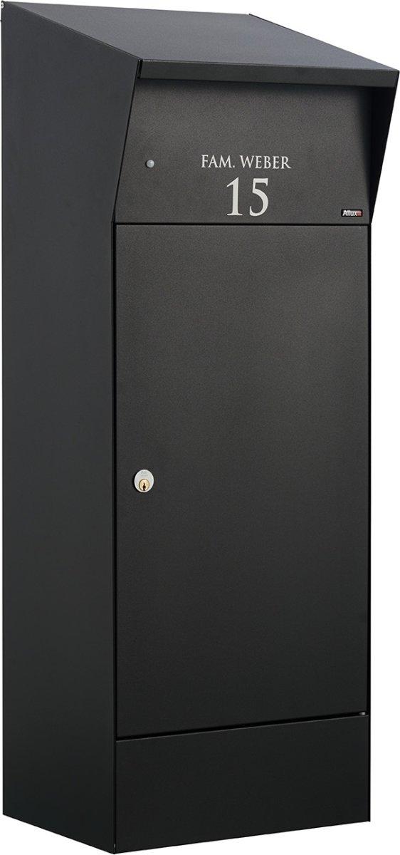 Allux Bjørn Pakkepostkasse med LED-lys, sort