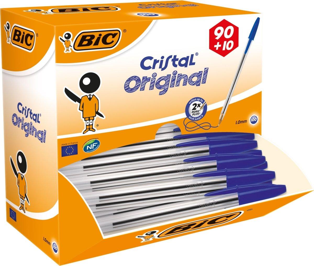Bic Cristal kuglepen value pack, medium, blå