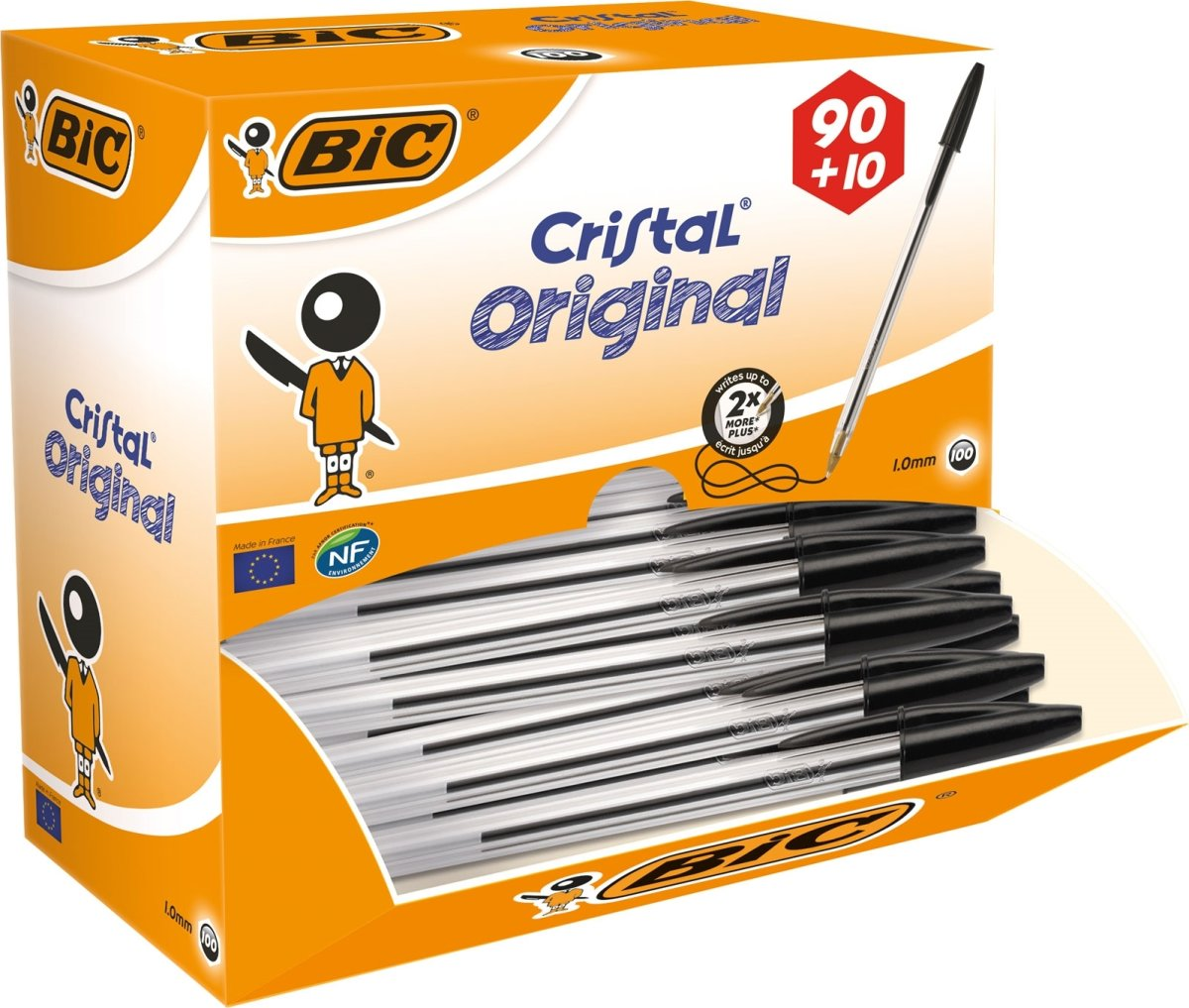 Bic Cristal kuglepen value pack, medium, sort