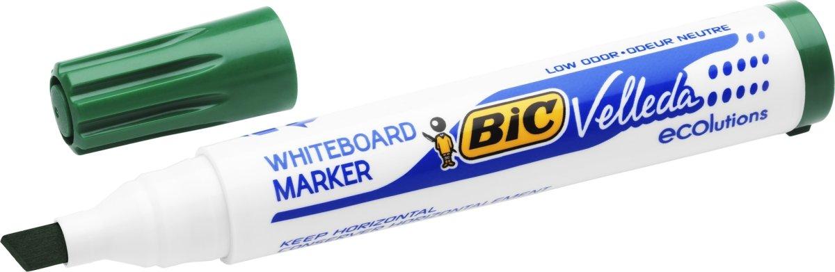 Bic whiteboardmarker 3-5,8mm, skrå spids, grøn