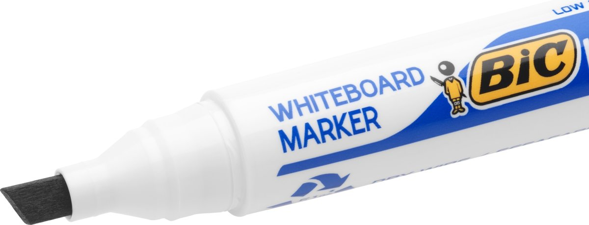 Bic whiteboardmarker 3-5,8mm, skrå spids, sort