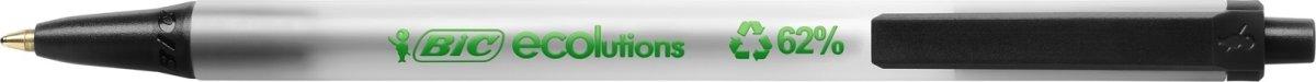 BIC Ecolutions Clic Stic kuglepen, medium, sort