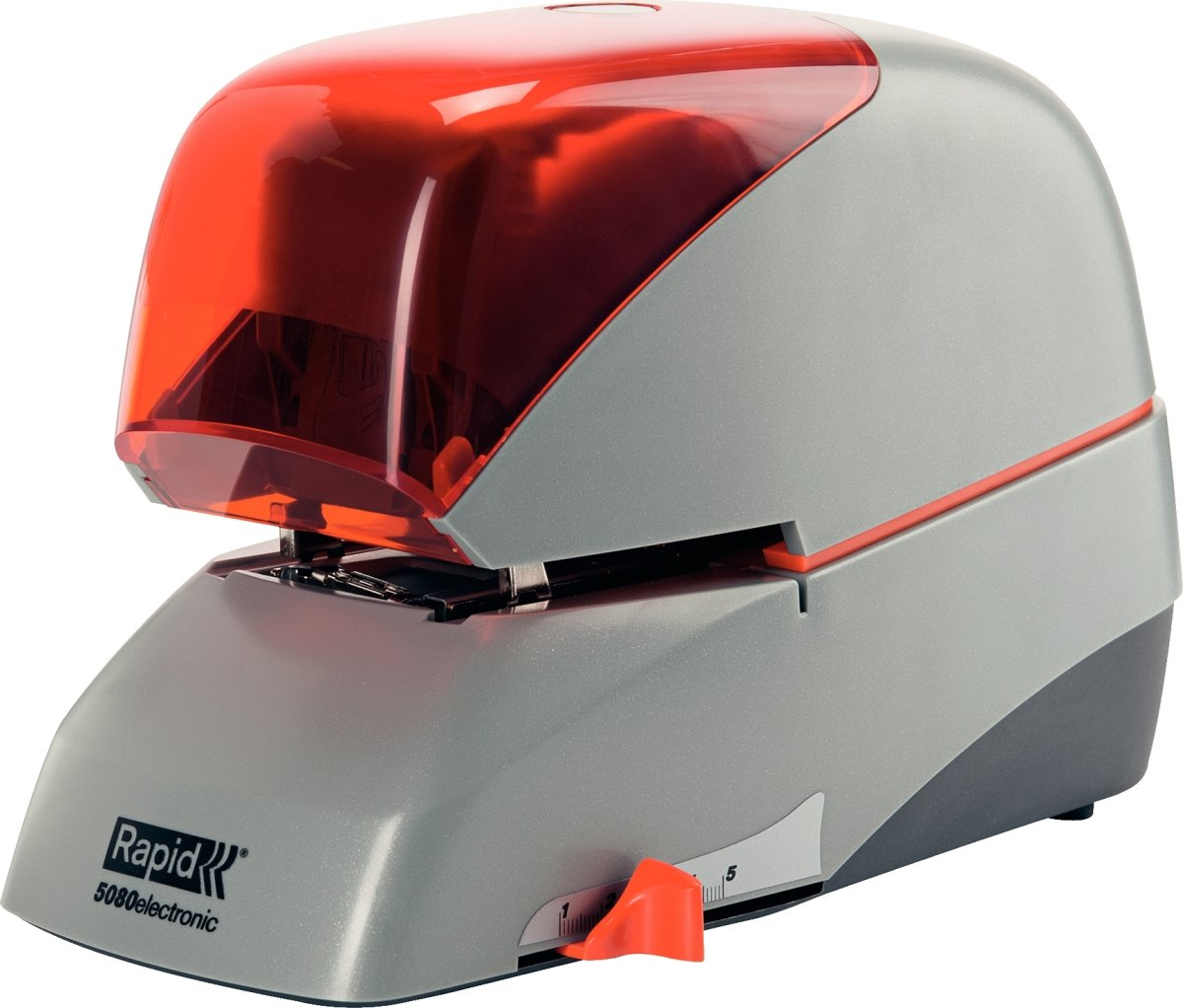 Rapid Supreme R5080e Elektrisk hæftemaskine, grå
