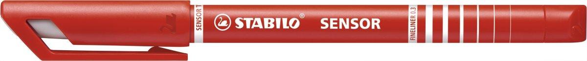 Stabilo Sensor Fiberpen, rød