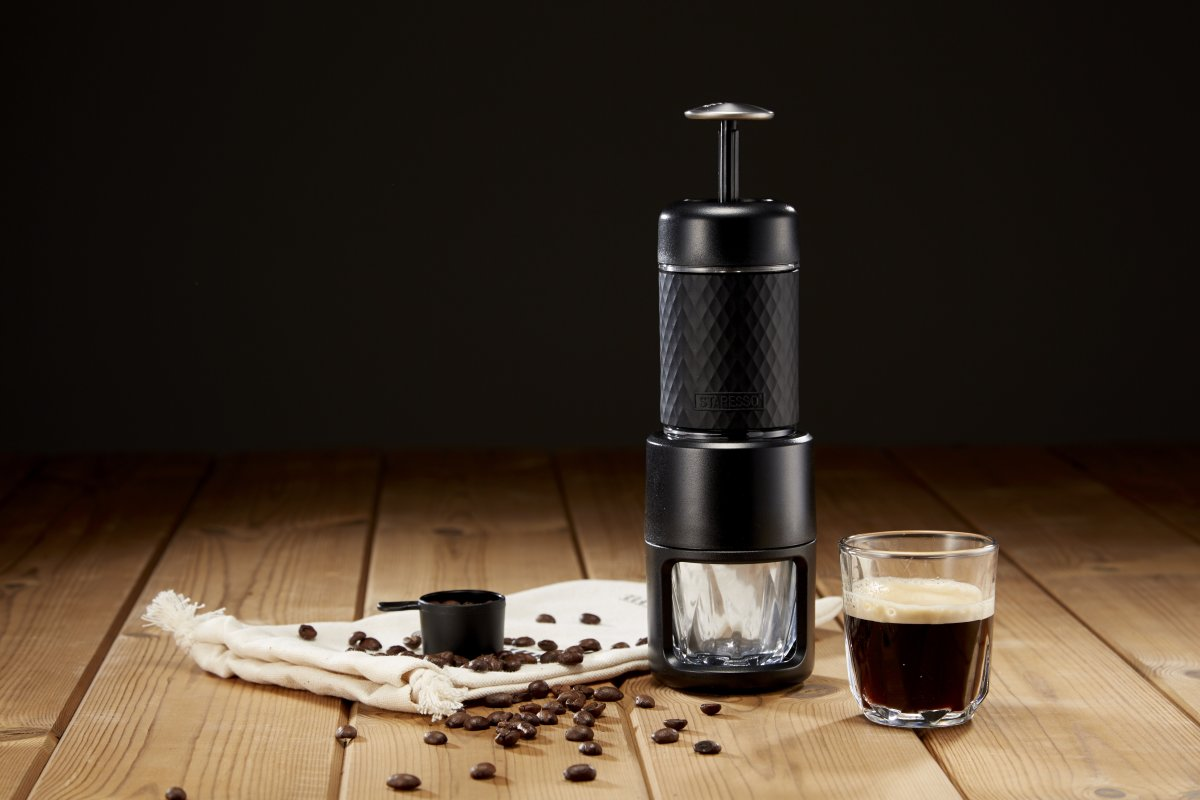 Staresso transportabel espressobrygger, sort