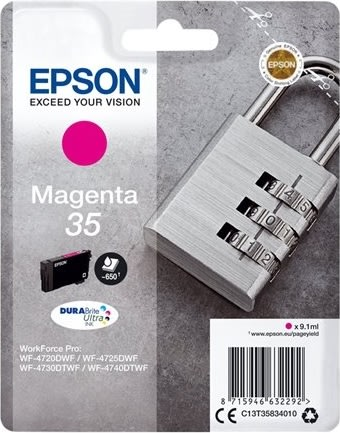 Epson 35 blækpatron, magenta, 650s