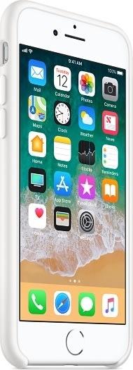 Apple cover til iPhone 8 i silikone, hvid