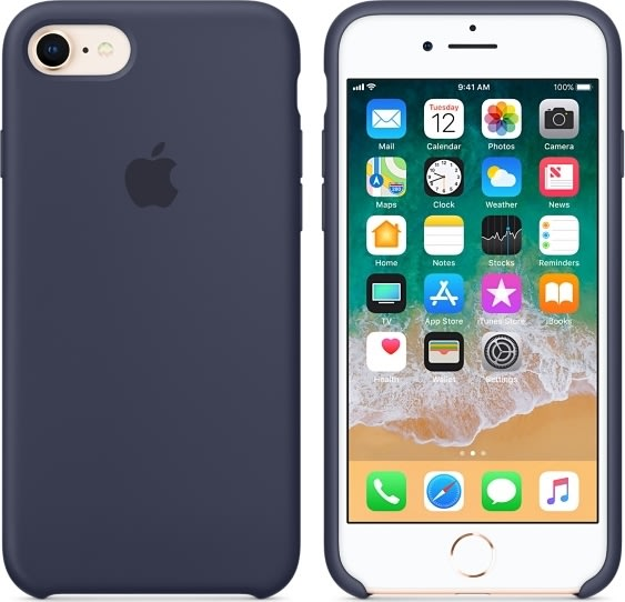 APPLE SILICONE CASE (IPHONE 8 BLUE COBALT)