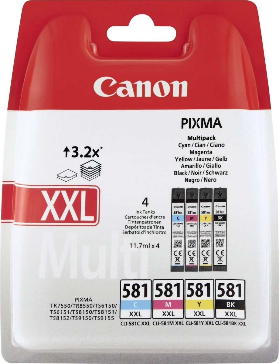 Canon CLI-581XXL C/M/Y/BK Multipakke