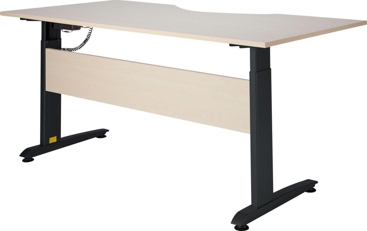 VIKING hæve/sænkebord 180X90, ahorn melamin / sort