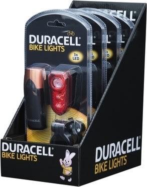 Duracellet cykellygter, for- og baglygte