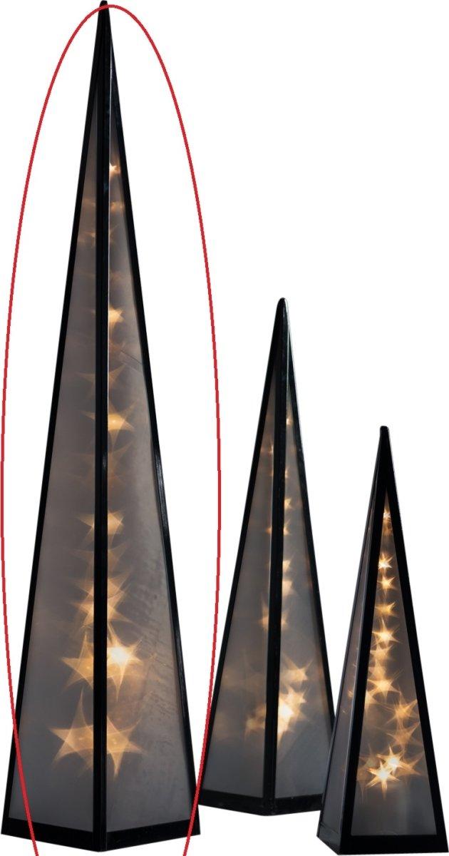 Lanterne med 3D lys, H 90 cm