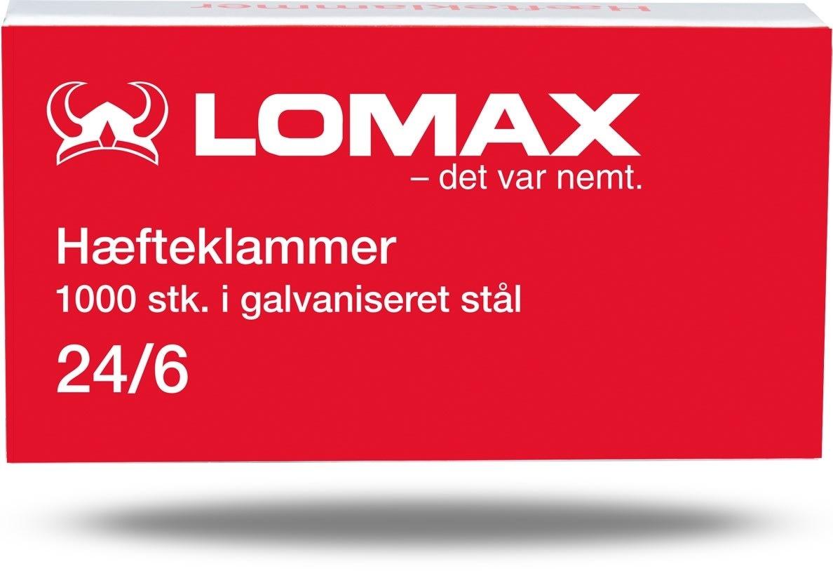 Lomax Hæfteklammer 24/6, 1000 stk.