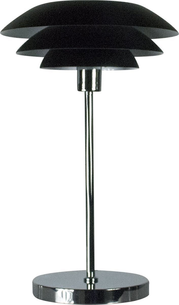 DL31 Bordlampe, Mat sort, H 50 cm