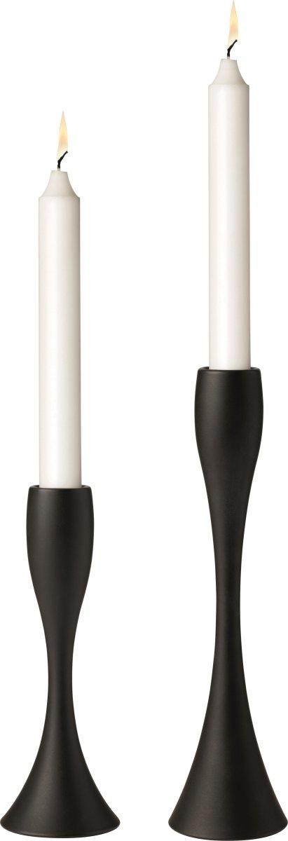 Stelton Reflection lysestage i sort, 17 cm
