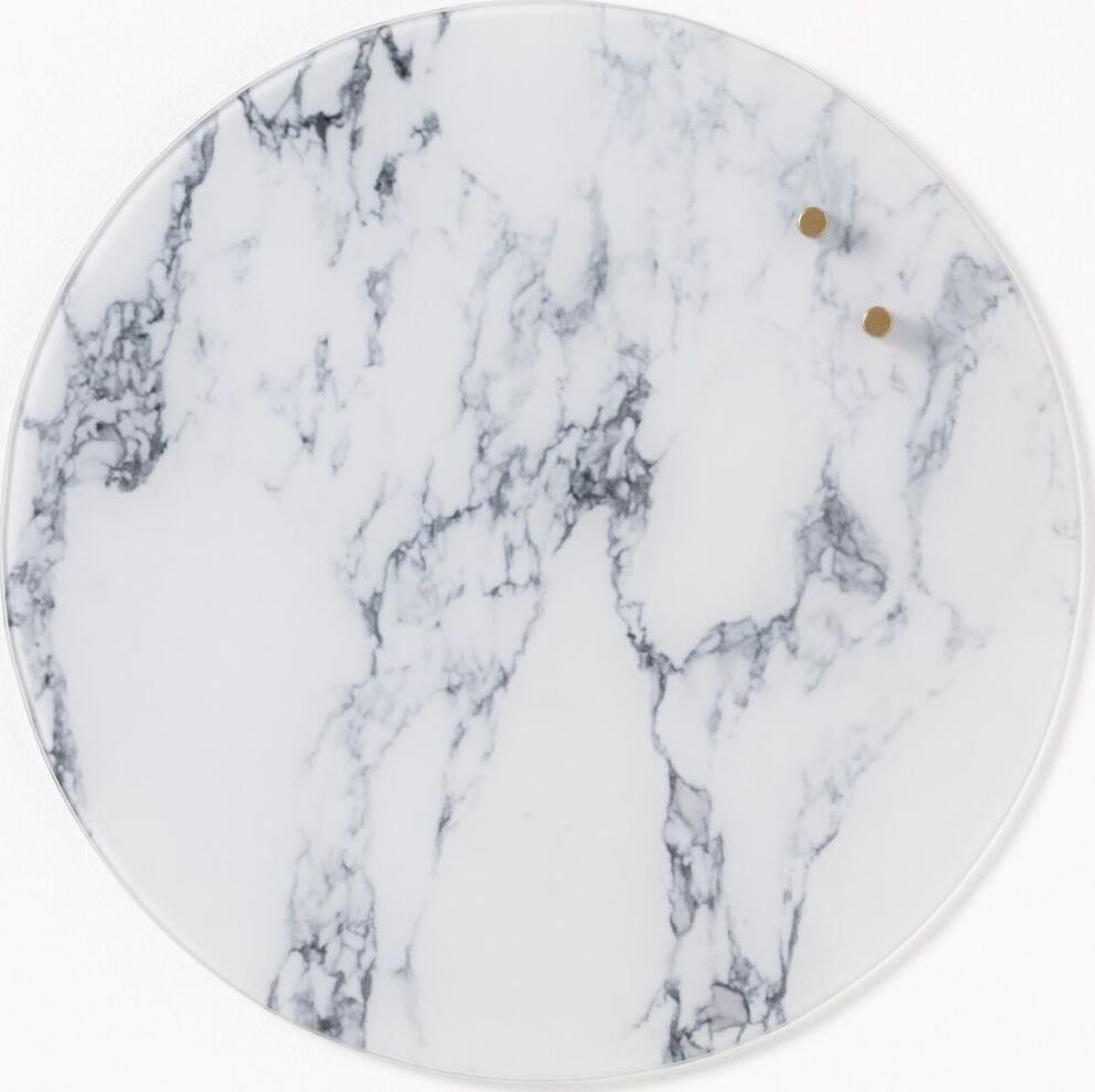 NAGA nord magnetisk glastavle, 35 cm, marmor