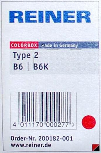 Stempelpude til nummeratør B6K, rød