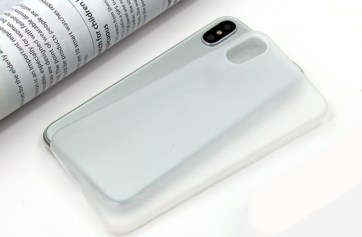 Twincase iPhone X case, transparent hvid