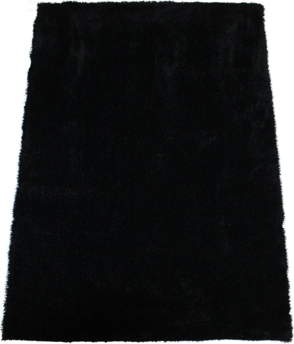 Easy Cozy sort tæppe, Ø 120 cm.