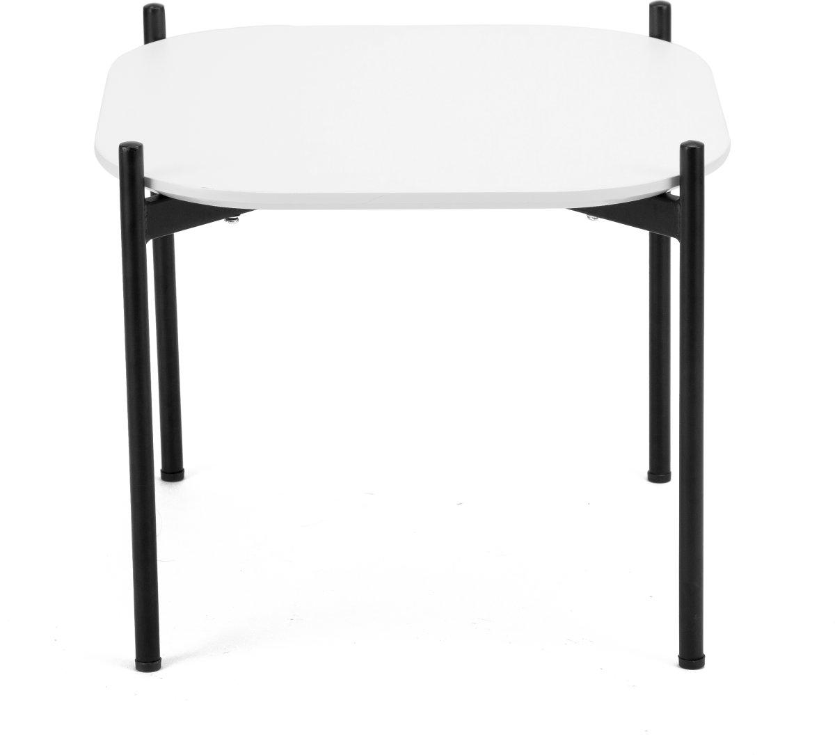 Ziggy lounge/sofabord, 50x50x40 cm, hvid laminat
