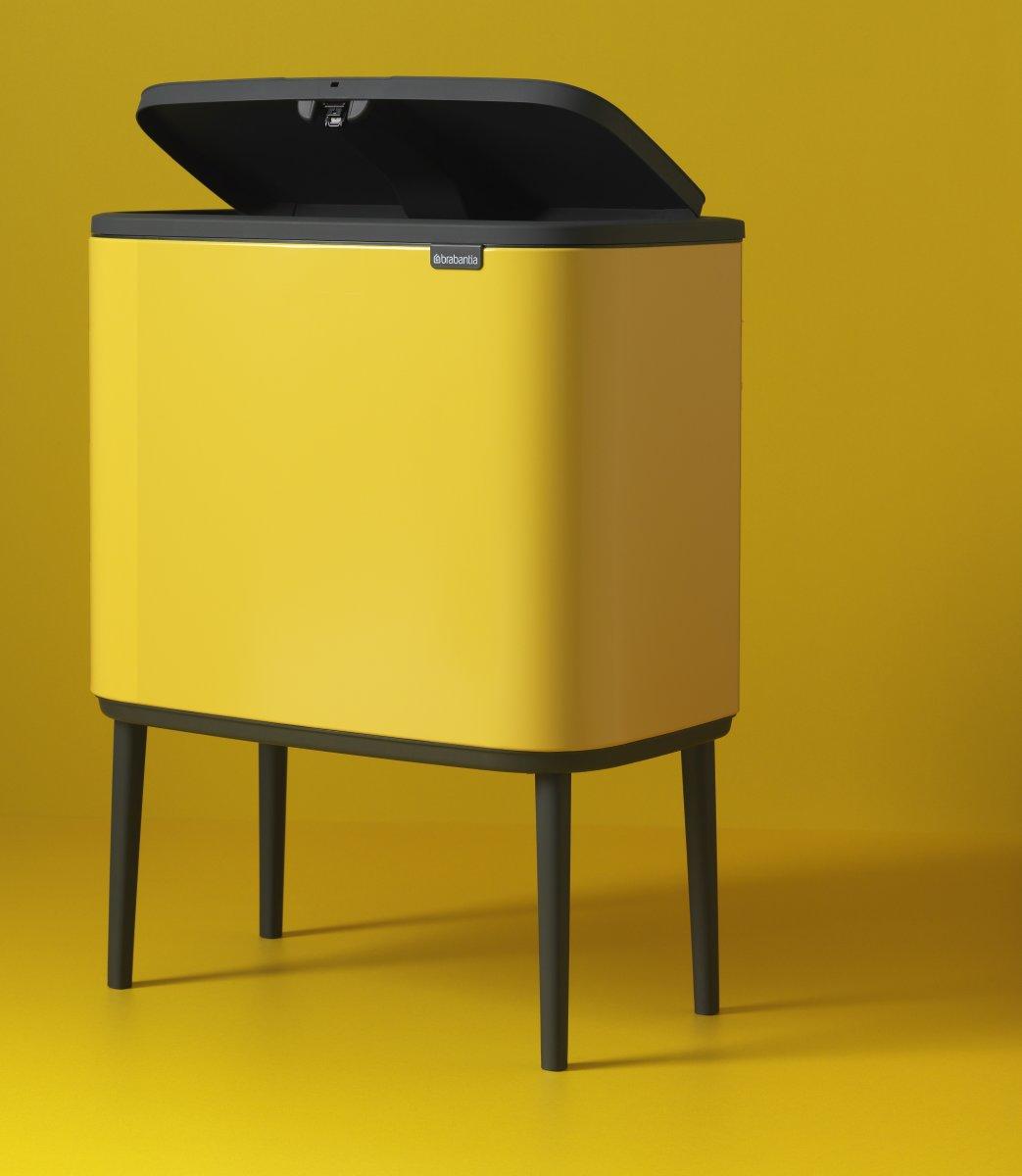 Brabantia BO Touch Bin 11+23 L, daisy yellow
