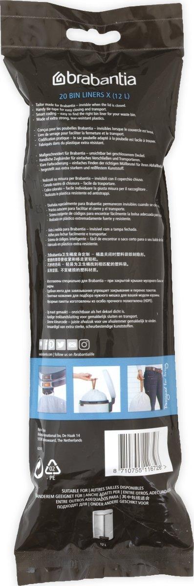Brabantia Affaldspose X, 10-12 liter, 20 stk.