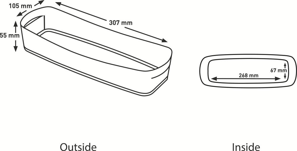 Leitz MyBox Opbevaringsbakke Long, hvid/grå