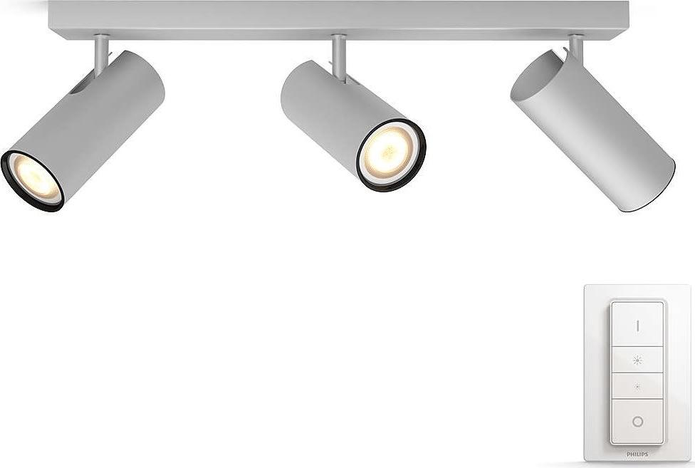 Philips HUE Buratto 3 x GU10 spot, alu + kontakt